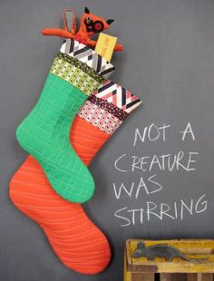 All the Trimmings Stockings pattern || Denyse Schmidt