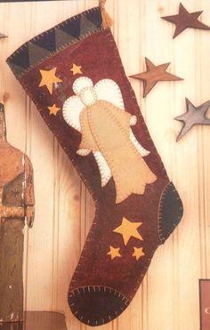 Hodge Podge Angel Felt Stocking Kit Quilt Applique Project Folk Art Craft New  | eBay