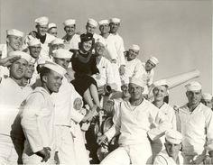Gracie Allen with the men of the navy