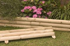 wood flower bed border - Google Search