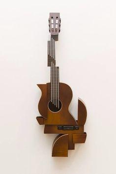 Abstract Guitar wall art