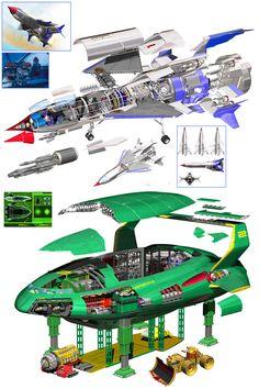 New Thunderbirds are Go X-Ray Cross Sections Japanese Book, Thunderbird 2 サンダーバード Are Go, Thunderbird 1, Thunderbirds Are Go, Sci Fi Models, Rescue Vehicles, Classic Sci Fi, Futuristic Art, Japanese Books, Batmobile