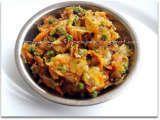 Mixed Veggies Masala with Dry Fenugreek leaves (Kasuri Methi) (Priya's Easy N Tasty Recipes) -- simple seasoning using kasuri methi, garam masala, ajwain, curry leaves and chilli and coriander powder.