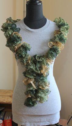 Most Popular Green Summer Ruffled scarf by KariLynnsKumfortshop,