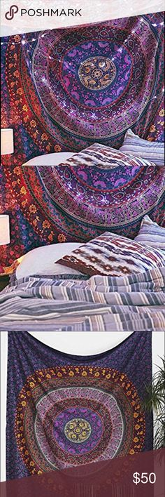 Anthropologie Mandala Wall Tapestry  Perfect condition. Super stunning Wall Hang. No holes, tags, or marks   ⚖ Reasonable Offers Considered through offer button.  ⚜Top Seller. No Trades.   Quick Shipping.        Bundle for Discount. Anthropologie Accessories