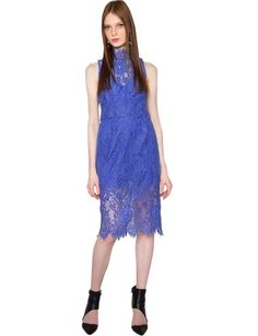 Stunning periwinkle midi dress featuring sexy lace overlay. Has inner bustier and partially lined. Hidden zip closure. Angel Haze Lace Midi Dress $259.00