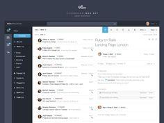 Dashboard Web App: Inbox by Michał Ptaszyński for EL Passion