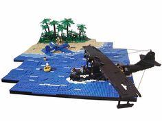 Rescue: A LEGO® creation by Ciamoslaw Ciamek : Lego Ww2, Lego Army, Lego Lego, Legos, Lego Plane, Airplane Activities, Lego Custom Minifigures, Lego Boards, Lego Mecha