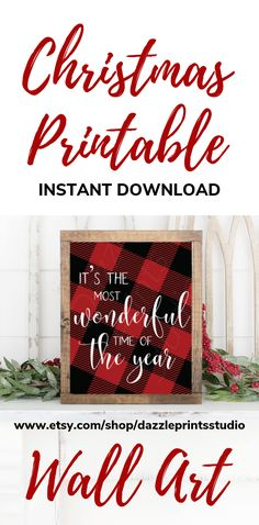 This cute Christmas Printable Wall Art is perfect to add to you Christmas decorations this Christmas.  Buffalo plaid Christmas printables are right on trend with which ever theme you going for this Christmas whether it be woodland christmas decor, rustic christmas decor, farmhouse christmas decor etc… Woodland Christmas, Nordic Christmas, Plaid Christmas, Rustic Christmas, Christmas Art, All Things Christmas, Christmas Themes, Christmas Decorations, Plaid Decor