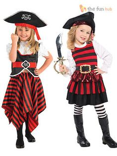 #Child caribbean pirate #costume little lass fancy dress #girls book week outfit, View more on the LINK: http://www.zeppy.io/product/gb/2/201284777459/