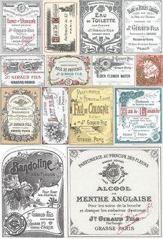 Typography - The Authentic Vintage Creative Bundle Éphémères Vintage, Images Vintage, Vintage Labels, Vintage Ephemera, Vintage Paper, Vintage Prints, Vintage Designs, Etiquette Vintage, Printable Labels