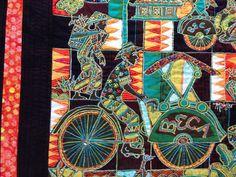 Batik Art Quilt Indonesian Batik Art Quilt by StitchesnQuilts