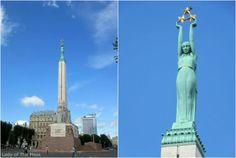 Statue of Liberty, Riga, Latvia - www.ladyofthemess.fi/2015/08/riika-ronttaliisa-baltian-pariisissa.html