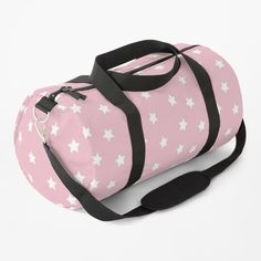 """""""Cute Stars Pattern"""" Duffle Bag by ind3finite   Redbubble Pink Duffle Bag, Duffle Bags, Cute Stars, Star Patterns, Cotton Tote Bags, Blush Pink, Chiffon Tops, Gym Bag, Stuff To Buy"""