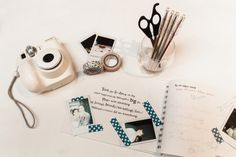 Polaroid camera for guest book