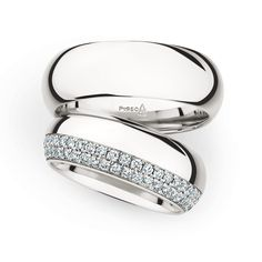 modern classic platinum wedding rings by Christian Bauer