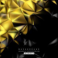 Black Gold Polygon Background