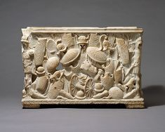 Marble cinerary urn | Roman | Early Imperial, Julio-Claudian | The Met