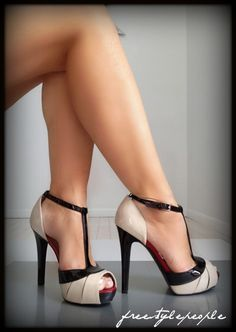 nude and black pumps!