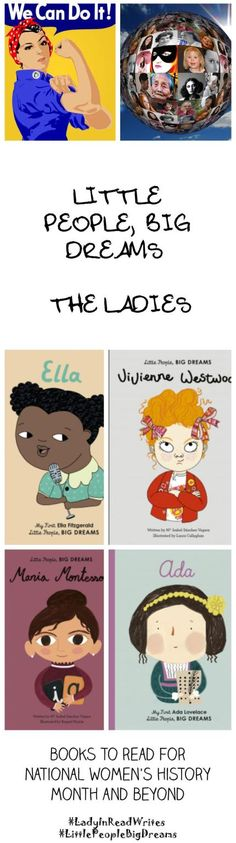 Little People, Big Dreams - The Ladies - Lady In Read WritesLady In Read Writes National Women's History Month, Books For Beginning Readers, I Spy Games, Vegetarian Kids, Learning Cards, Back To School Crafts, Mentor Texts, I Love Reading, Matching Games