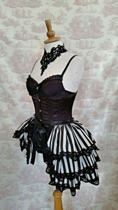 Carnival Burlesque Bustle Skirt and Shrug SET Costume Lolita Carnivale Ready to ship! Tutu Outfits, Stage Outfits, Cosplay Outfits, Dance Outfits, Cool Outfits, Fashion Outfits, Circus Outfits, Tomboy Outfits, Lingerie Outfits