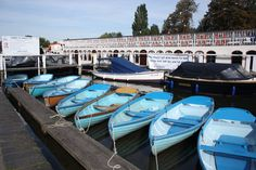 Beautiful blue dinghies at Hobbs of Henley