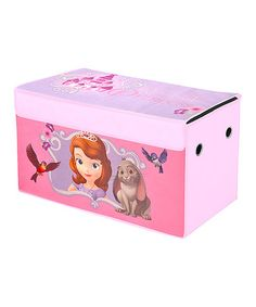 Look at this #zulilyfind! Sofia the First 'Real Life Princess' Collapsible Storage Trunk #zulilyfinds