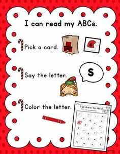 Students practice identifying the lowercase letters of the alphabet in this FREE festive literacy center.