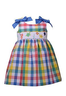 Bonnie Jean Plaid Smocked Dress