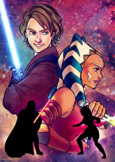 Anakin and Ahsoka by cass-evelyn-art on Tumblr