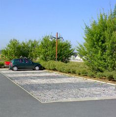 Parking and storm water management #green #paving #stone