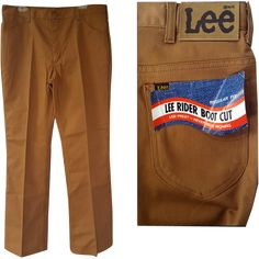 Vintage USA Lee Riders boot cut 50/50 denim pants; dead stock jeans; mint with original tags, measure 38 X 34. Straight, boot cut with no flare. Never