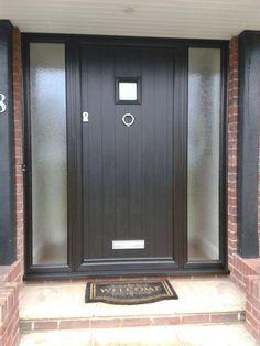 Gallery - The Urban Door Company Grey Composite Front Door, Grey Front Doors, Cottage Front Doors, Front Doors With Windows, Cottage Door, House Front Door, Front Door Colors, Modern Entrance Door, Modern Front Door