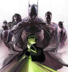 Justice League vs. The Riddler by Alex Ross