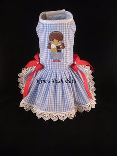 Dorothy & Toto Cutie Dog Dress _ Halloween  #KIMSPOSHPETS_ Facebook - Kim's Posh Pets