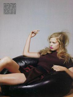 Short: The New Ease (Vogue Italia).  October 2010.   Craig McDean - Photographer.   Edward Enninful - Fashion Editor/Stylist.   Eugene Souleiman - Hair Stylist.   Diane Kendal - Makeup Artist.   Piers Hanmer - Set Designer.