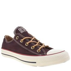 converse star player ox suede ii burgundy trainers