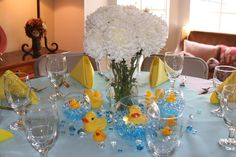 For the flowers - nice color and fullness. Glass baubles not so much. Mel's Baby Shower   CatchMyParty.com
