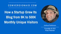 Joshua Parkinson is the Founder & CEO of PostPlanner, a Facebook tool that makes it easy for people to find and post amazing content to increase their social media engagement. Joshua founded the company in 2011 and to date Post Planner has over 25,000 monthly active users. Social Media Engagement, Awesome, Amazing, Content, Facebook, Nice, Easy, People, Blog