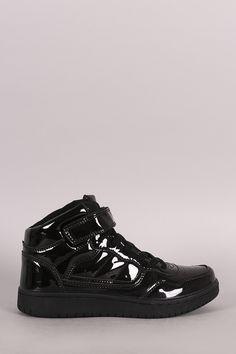 Mirror Patent Lace Up High Top Sneaker Mirror 40eb97e33e1