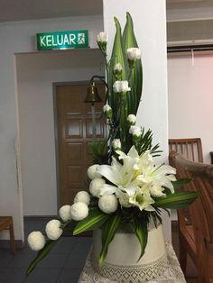 Casket Flowers, Altar Flowers, Church Flowers, Funeral Flowers, Tropical Floral Arrangements, White Flower Arrangements, Flower Arrangement Designs, Grave Decorations, Flower Decorations