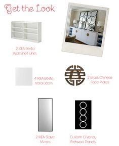 Get the Look: IKEA Besta Custom Buffet