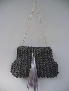 Silvery Silver Crochet purse created by LeeLu