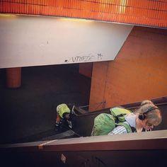 Leaving Utopia.  #berlin #zob #zobberlin #omnibus #utopia #rolltreppe #berlingram #berlinstagram #berlinzob #utopie #backpacker #backpacking #latergram #busbahnhof #unterführung #drehort #mockingjay #berlinmesse