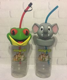 Rainforest Cafe Elephant Frog 16 Oz. Cups Bottles with Snack Holder | Collectibles, Advertising, Restaurants & Fast Food | eBay!