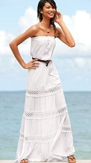 I want this dress I don't care what color!!!!  Victoria Secret Strapless Maxi..  I am partial to the white!