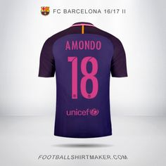 Camiseta FC Barcelona 2016/2017 Visita Amondo 18