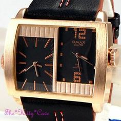 OMAX Waterproof 5ATM SS Seiko Movt Gents Unisex Twin Zone Dual Time Watch DUL007