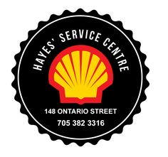 New Logo design for Hayes' Service Centre in Burk's Falls, ON | Shell Station   #vintage #mancave #shell #picton #servicecenter #gasstation #logodesign #round