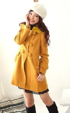 20157-women-rabbit-hair-collar-slanting-pockets-long-winter-coat-1.jpg (300×484)